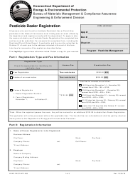 "Form DEEP-PEST-APP-006 ""Pesticide Dealer Registration"" - Connecticut"