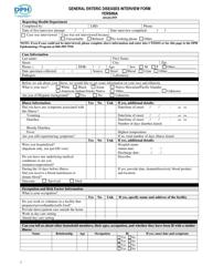 """General Enteric Diseases Interview Form - Yersinia"" - Connecticut"