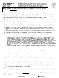 """Form JD-FM-158 """"Notice of Automatic Court Orders"""" - Connecticut"""