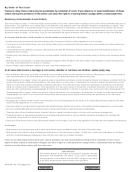 """Form JD-FM-158 """"Notice of Automatic Court Orders"""" - Connecticut, Page 2"""