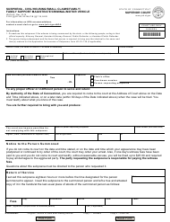 """Form JD-CL-43 """"Subpoena - Civil/Housing/Small Claims/Family/ Family Support Magistrate/Criminal/Motor Vehicle"""" - Connecticut"""