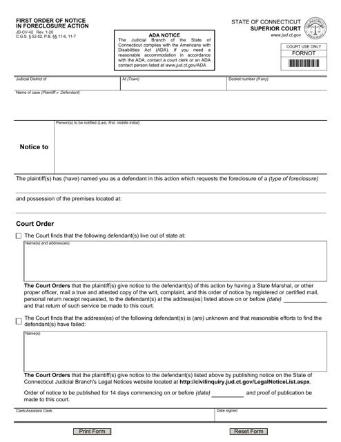 Form JD-CV-42  Printable Pdf
