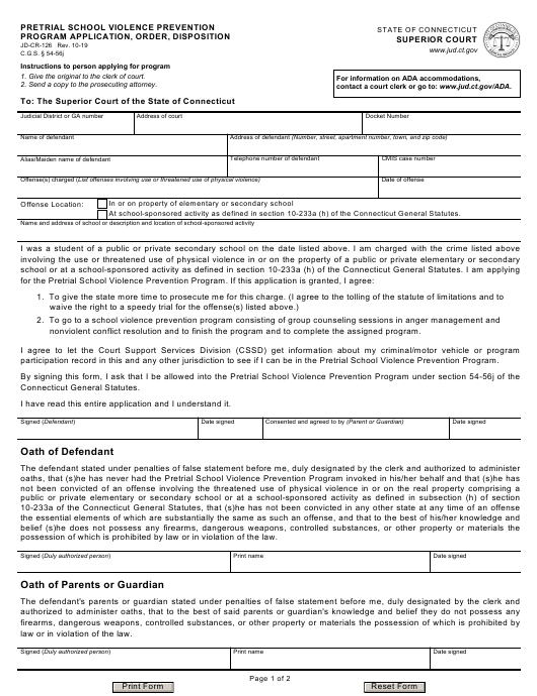 Form JD-CR-126 Printable Pdf