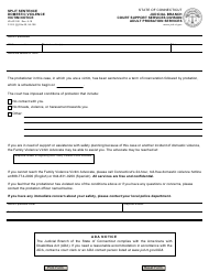 "Form JD-AP-182 ""Split Sentence, Domestic Violence, Victim Notice"" - Connecticut"