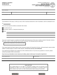 "Form JD-AP-183 ""Domestic Violence, Victim Notice"" - Connecticut"