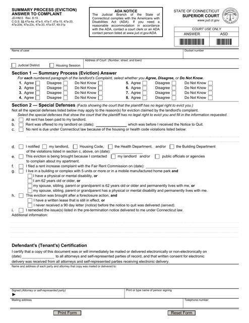 Form JD-HM-5 Printable Pdf