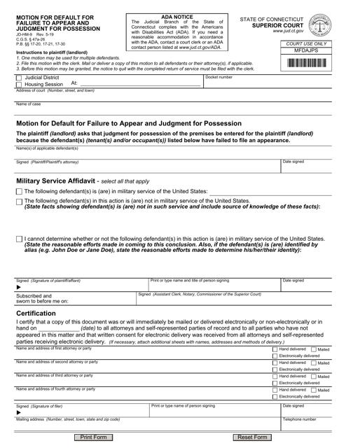Form JD-HM-9 Printable Pdf