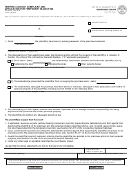 """Form JD-HM-24 """"Verified Lockout Complaint and Application for Temporary Injunction"""" - Connecticut"""