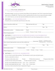 "Form JD-VS-8EI ""Emotional Injury Application"" - Connecticut"