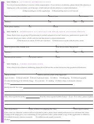 """Form JD-VS-8EI """"Emotional Injury Application"""" - Connecticut, Page 2"""