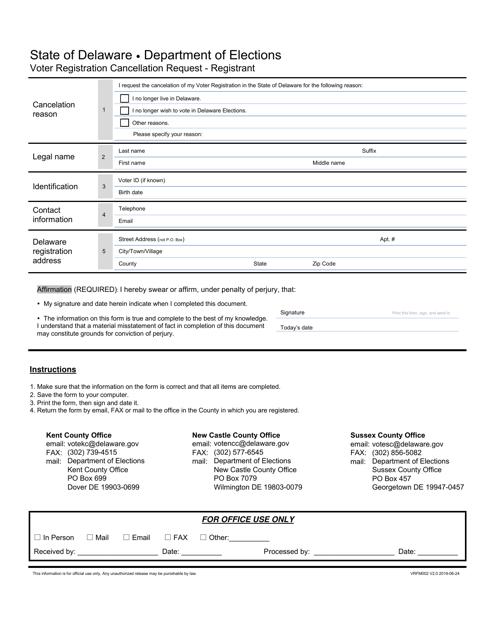 Form VRFM002 Printable Pdf