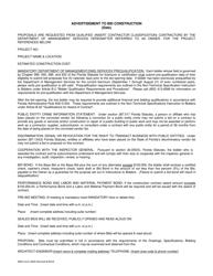 "DMS Form AE05 ""Advertisement to Bid Construction"" - Florida"