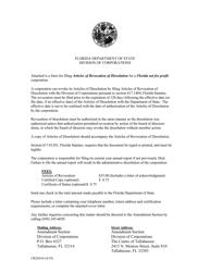 """Form CR2E016 """"Articles of Revocation of Dissolution"""" - Florida"""