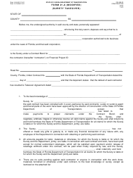 """Form 21-A (700-050-22) """"Surety Takeover"""" - Florida"""