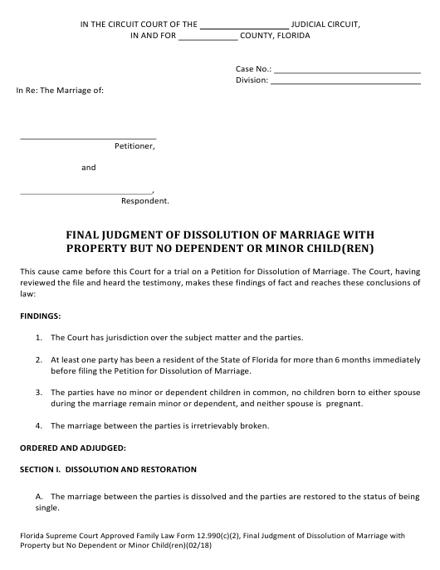 Form 12.990(C)(2)  Printable Pdf
