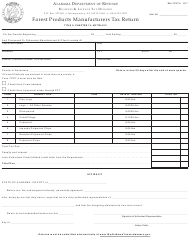 """Form B&L: FPST-3 """"Forest Products Manufacturers Tax Return"""" - Alabama"""