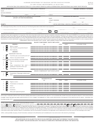 """Form INV26-15 """"Application for Inspection of a Salvage Vehicle and Affirmation Supporting Salvage Certificate"""" - Alabama"""