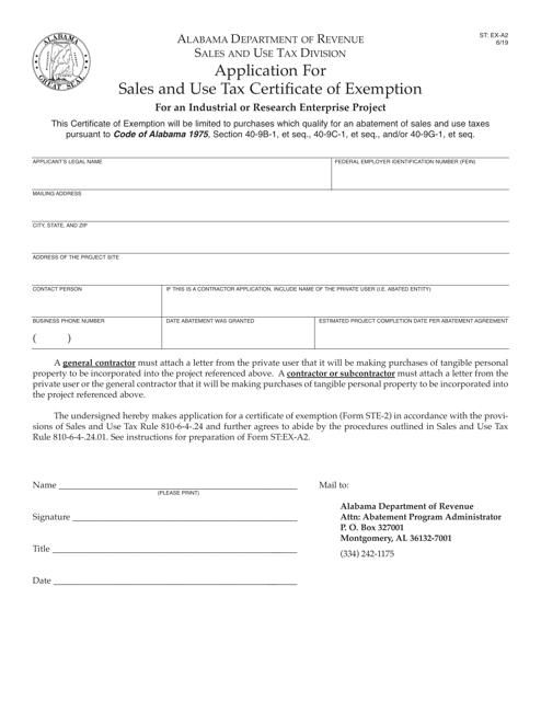 Form ST: EX-A2 Printable Pdf