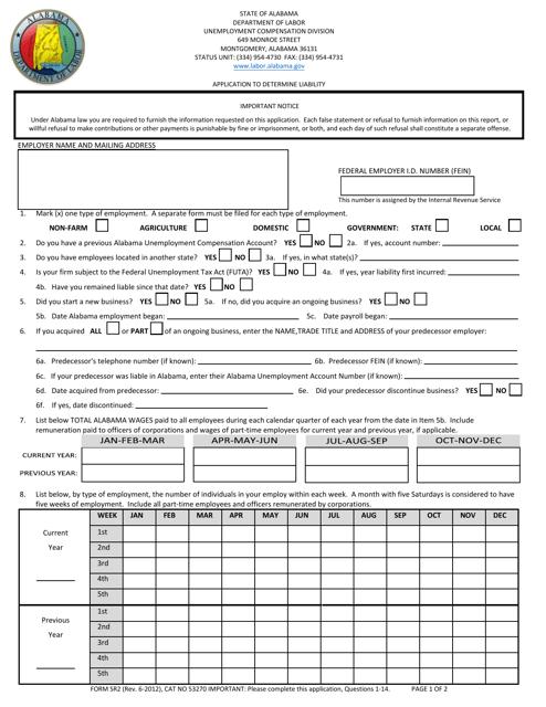 Form SR2  Printable Pdf