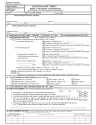 "Form ARAP-24 ""Docketing Statement (Appeal to the Supreme Court of Alabama)"" - Alabama"