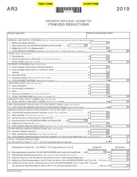 "Form AR3 ""Itemized Deductions"" - Arkansas, 2019"