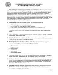 "Instructions for Form PCS-1 ""Contract"" - Arkansas"