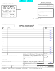 "Form STD.40A ""Sub-purchase Order"" - California"