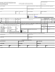 "Form STD5 ""Intra-office Requisition (Local Request)"" - California"