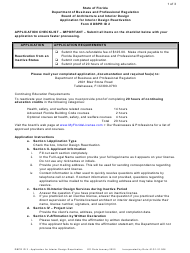 "DBPR Form ID2 ""Application for Interior Design Reactivation"" - Florida"