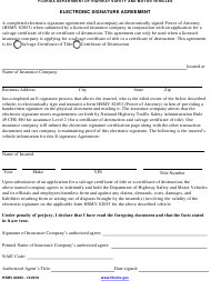 "Form HSMV82052 ""Electronic Signature Agreement"" - Florida"