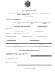 """""""Indemnification Commission Application for Benefits"""" - Georgia (United States)"""