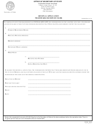 "Form TM02 ""Renewal Application Trademark or Service Mark"" - Georgia (United States)"