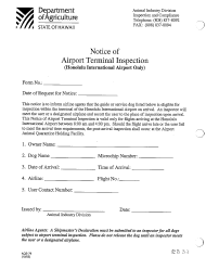 "Form AQS-79 ""Notice of Airport Terminal Inspection (Honolulu International Airport Only)"" - Hawaii"