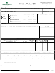 "Form AL321-01 ""Loan Application"" - Hawaii"