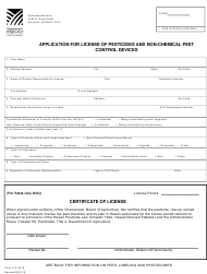 "Form P-2 ""Application for License of Pesticides and Non-chemical Pest Control Devices"" - Hawaii, 2019"