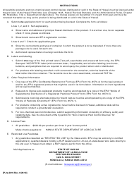 "Instructions for Form P-2 ""Application for License of Pesticides and Non-chemical Pest Control Devices"" - Hawaii, 2019"