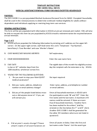 "Instructions for Form DHS1100B-2 ""Medical Assistance Renewal Form for Magi-Excepted Households"" - Hawaii"