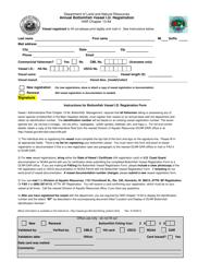 """""""Annual Bottomfish Vessel I.d. Registration"""" - Hawaii"""