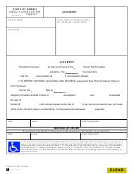 """Form 1C-P-617 """"Judgment (All Claims)"""" - Hawaii"""
