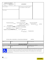 """Form 1C-P-621 """"Judgment (Injunction)"""" - Hawaii"""