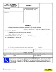 "Form 1C-P-622 ""Judgement (Declaratory)"" - Hawaii"