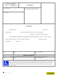 """Form 1C-P-623 """"Judgment (Motion to Dismiss)"""" - Hawaii"""