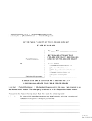 "Form 2F-P-348 ""Motion and Affidavit for Pre-decree Relief; Scheduling Order for Pre-decree Relief"" - Hawaii"