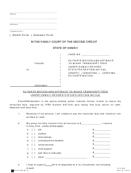 "Form 2F-P-360 ""Ex Parte Motion and Affidavit to Waive Transcript Fees"" - Hawaii"