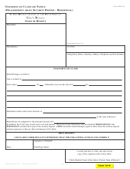 """Form 5DC05 """"Statement of Claim and Notice (Disagreement About Security Deposit-Residential)"""" - Hawaii"""