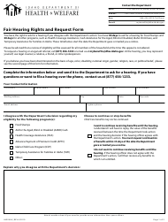 """Form HW0406 """"Fair Hearing Rights and Request Form"""" - Idaho"""