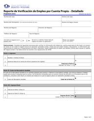 """Formulario HW2020S """"Reporte De Verificacion De Empleo Por Cuenta Propia - Detallado"""" - Idaho (Spanish)"""