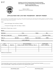 "Form SP-115 ""Application for Live Fish Transport / Import Permit"" - Idaho"