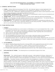 "Form CA2 ""Biographical Statement & Consent Collection Agency Application Form"" - Idaho"