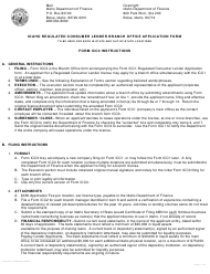 "Form ICC3 ""Idaho Consumer Lender Branch Office Application Form"" - Idaho"